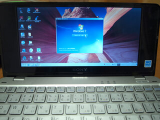 VAIO type PにWindows 7をインストールしました