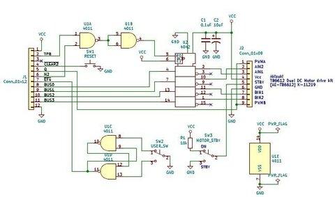 RCA CDP1802 COSMACを動かしてみた(11) モーターを制御してみた