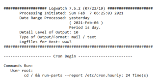Logwatchの仕様変更からWebサーバへの攻撃増加を知る